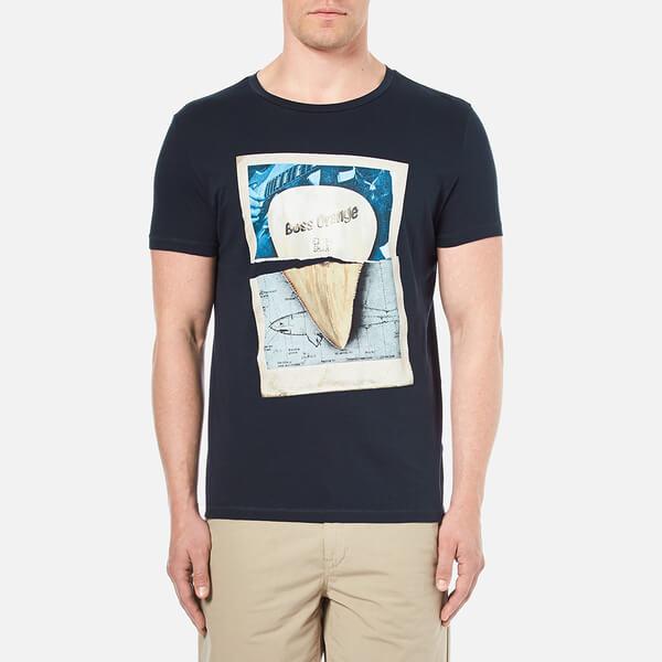 BOSS Orange Men's Treyno 2 Printed T-Shirt - Navy