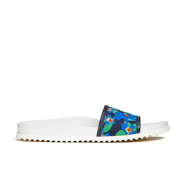 Jil Sander Navy Jil Sander Navy Women's Graphic Flowers Slide Sandals - Blue/Green - UK 7