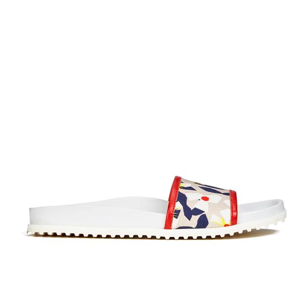 Jil Sander Navy Jil Sander Navy Women's Graphic Flowers Slide Sandals - Red/White - UK 7