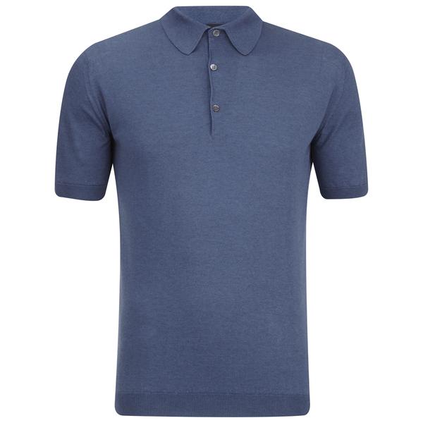 John Smedley Men's Adrian Sea Island Cotton Polo Shirt - Baltic Blue