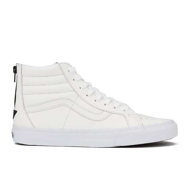 Vans Men's Sk8-Hi Reissue Zip Premium Leather Trainers - True White/Black