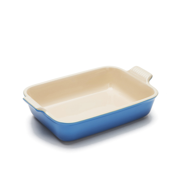Le Creuset Stoneware Medium Heritage Rectangular Roasting Dish - Marseille Blue