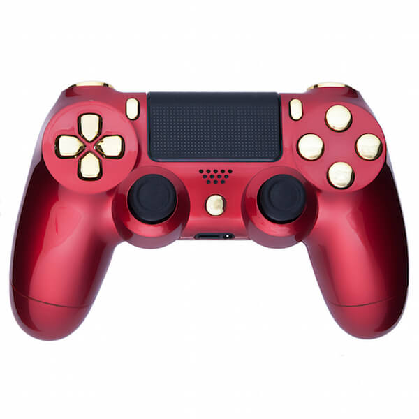 Custom Controllers PlayStation DualShock 4 Custom Controller - Crimson Red & Gold