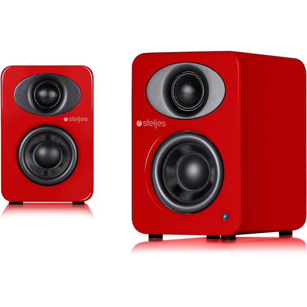 Steljes Audio NS1 Bluetooth Duo Speakers - Vermilion Red