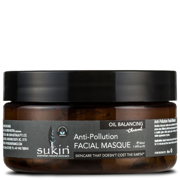 Masque facial Sukinà l'huile équilibrante+ charbonanti-pollution100ml
