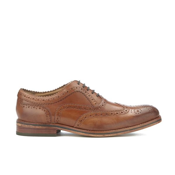 H Shoes by Hudson H Shoes by Hudson Men's Keating Leather Brogue Shoes - Tan - UK 11