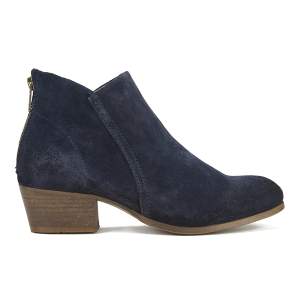 H Shoes by Hudson H Shoes by Hudson Women's Apisi Suede Heeled Ankle Boots - Navy - UK 8