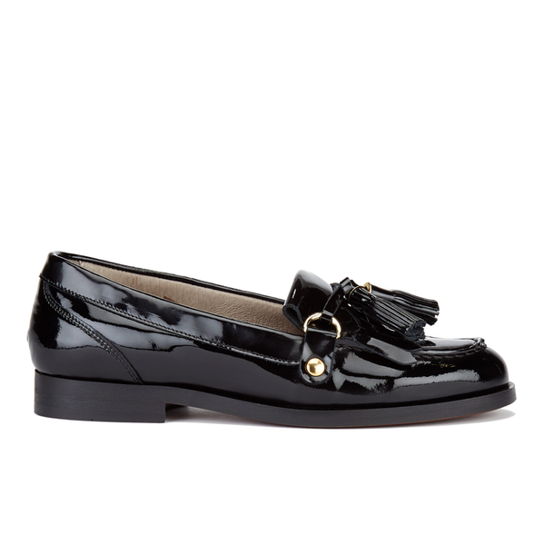 H Shoes by Hudson H Shoes by Hudson Women's Britta Patent Tassle Loafers - Black - UK 7