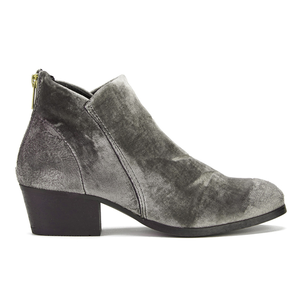H Shoes by Hudson H Shoes by Hudson Women's Apisi Velvet Heeled Ankle Boots - Grey - UK 6