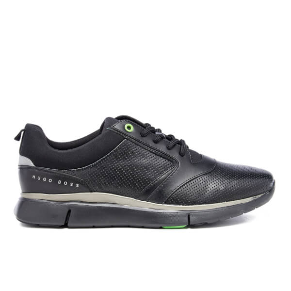 BOSS Green BOSS Green Men's Gym Leather Running Trainers - Black - UK 11