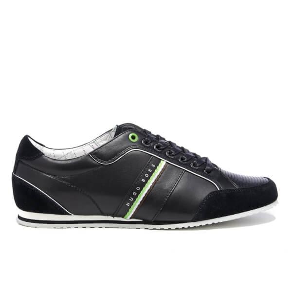 BOSS Green BOSS Green Men's Victoire LA Leather Trainers - Charcoal - UK 11
