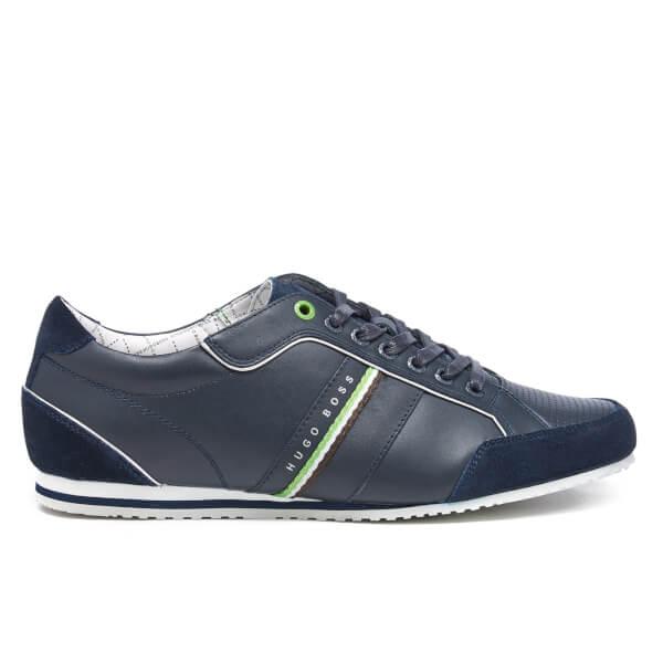 BOSS Green BOSS Green Men's Victoire La Leather Trainers - Dark Blue - UK 11