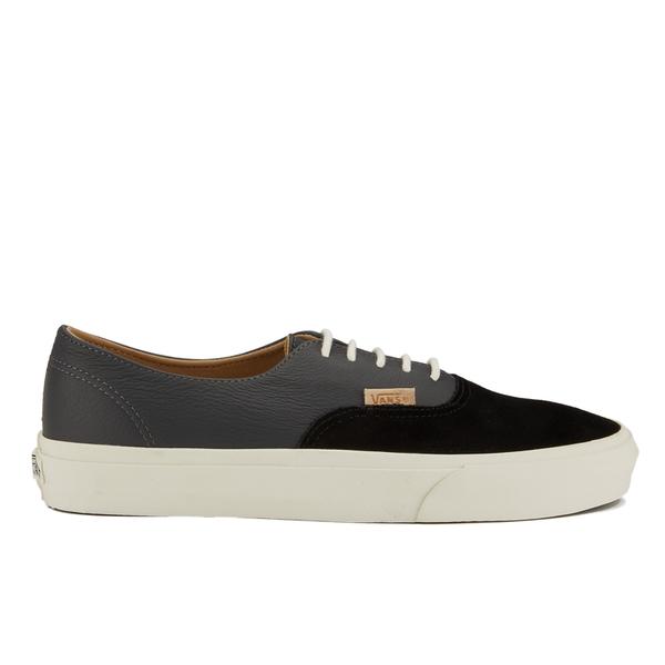 Vans Men's Authentic Decon Dx Suede/Leather Trainers - Black/Asphalt