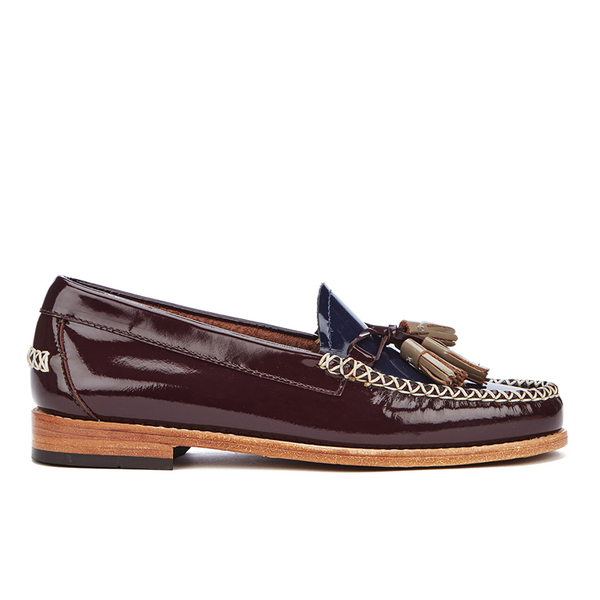 Bass Weejuns Women's Estelle Leather Loafers - Bordo/Navy