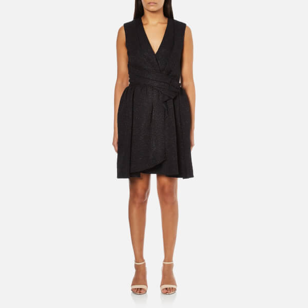Carven Women's Wrap Dress - Black
