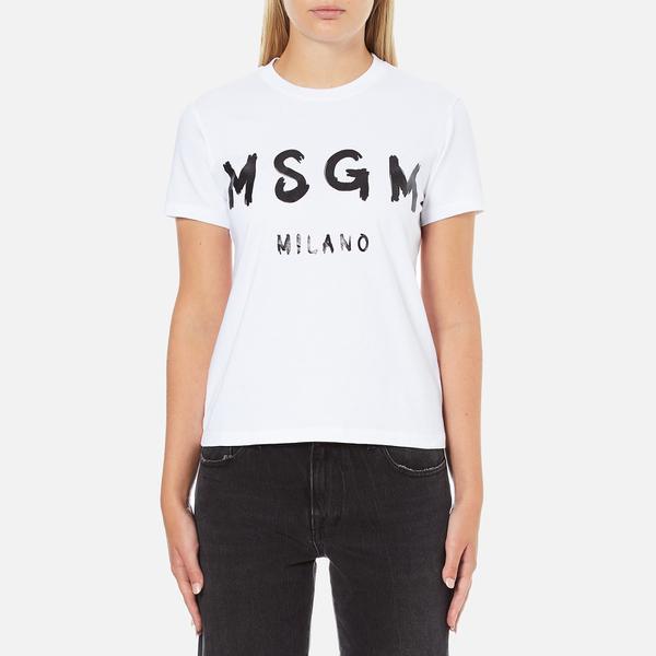 MSGM Women's Logo T-Shirt - White