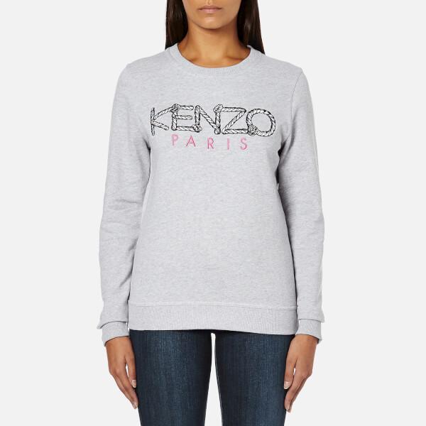 KENZO Women's Paris Logo Sweatshirt - Light Grey