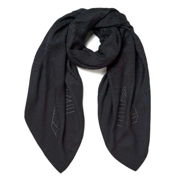 KENZO Women's High End Icons Flying Logo Devore Scarf - Grey