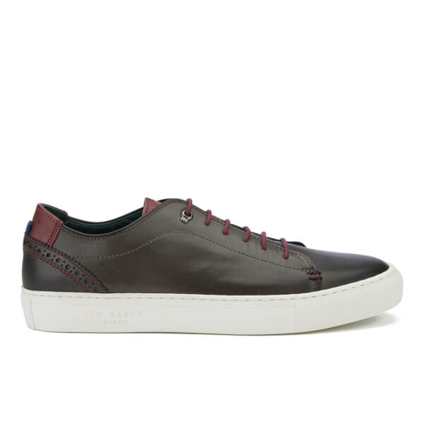 Ted Baker Men's Kiing Leather Cupsole Trainers - Grey