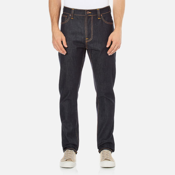 Nudie Jeans Men's Brute Knut Regular/Tapered Fit Jeans - Dry Navy Comfort