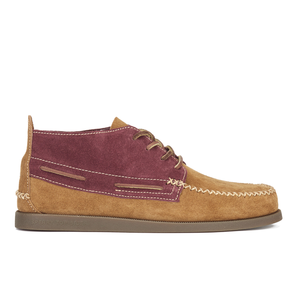 Sperry Sperry Men's A/O 2-Eye Wedge Suede Chukka Boots - Tan/Burgundy - UK 11