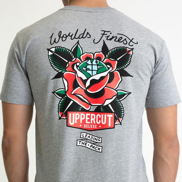 Uppercut Deluxe Men's World's Finest T-Shirt - Grey
