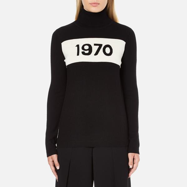 Bella Freud Women's 1970 Polo Merino Wool Jumper - Black