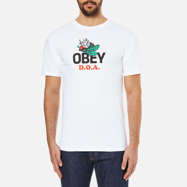OBEY Clothing Men's Dead On Arrival T-Shirt - White