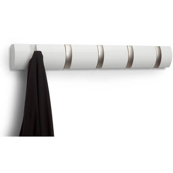Umbra Flip 5 Coat Hooks - Natural