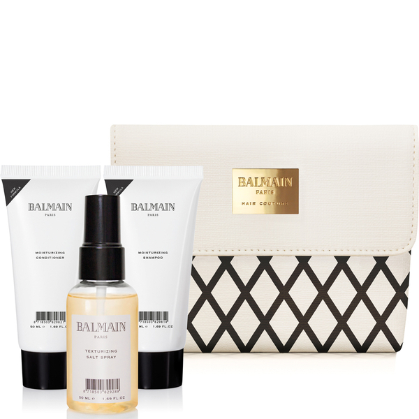 Balmain Hair SS16 Cosmetic Bag with Shampoo (50ml), Conditioner (50ml) and Salt Spray (50ml)