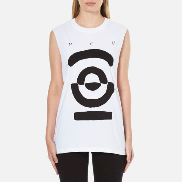 McQ Alexander McQueen Women's Boyfriend Tank Top - Optic White