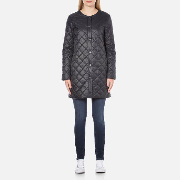 Barbour Women's Collarless Border Quilted Jacket - Black