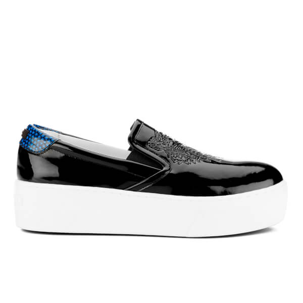 KENZO Women's K-Py Platform Slip On Trainers - Black