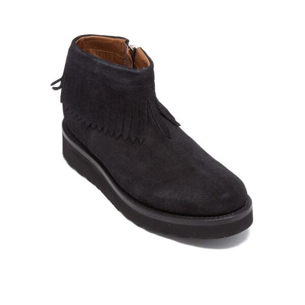 grenson s trixie suede tassel boots black free