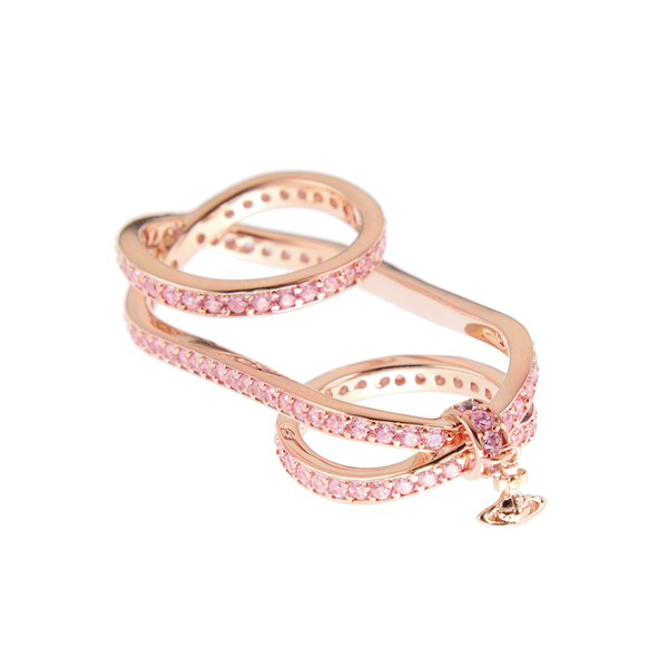 Vivienne Westwood Women's Lila Ring - Cubic Zirconia Pink