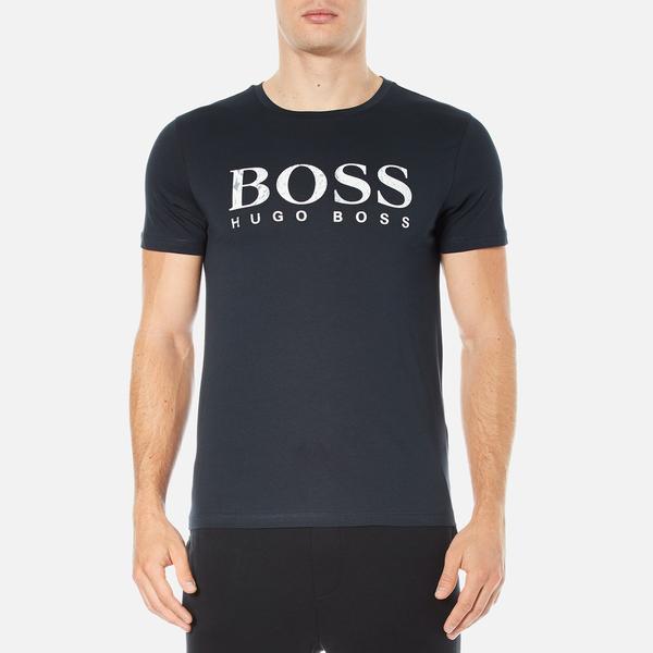 BOSS Orange Men's Tommi 3 Large Logo T-Shirt - Dark Blue