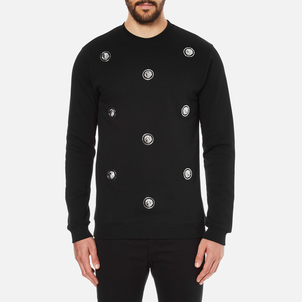 Versus Versace Men's Embellished Crew Sweatshirt - Black