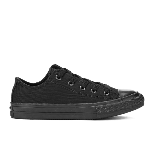 Converse Kids Chuck Taylor All Star II Tencel Canvas Ox Trainers - Black Monochrome