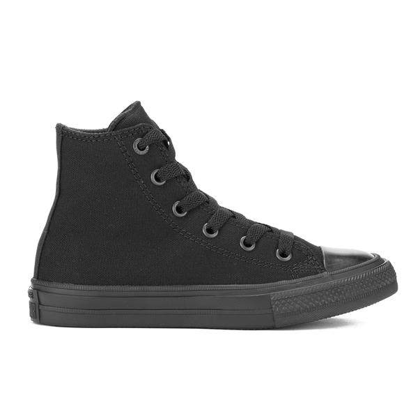 Converse Kids Chuck Taylor All Star II Tencel Canvas Hi-Top Trainers - Black Monochrome