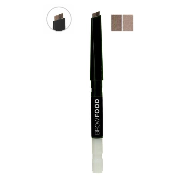 LashFood Eco-Precision 2-Tone Brow Pencil Refill - Brunette