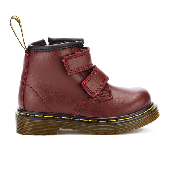 Dr. Martens Toddlers' Brooklee BV Velcro Leather Boots - Cherry Red