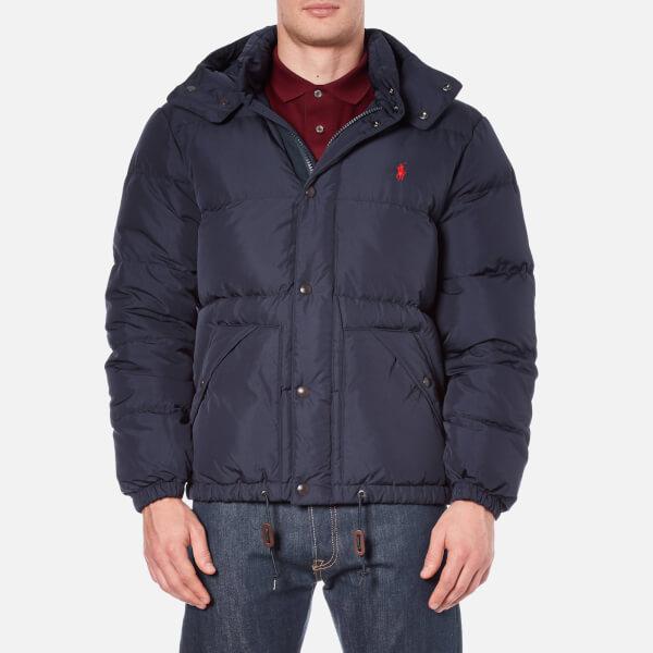 Polo Ralph Lauren Men's Down Filled Hooded Jacket - Worth Navy