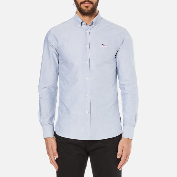 Maison Kitsuné Men's Classic Oxford Shirt - Navy