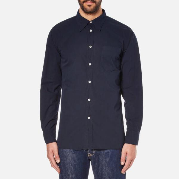 Universal Works Men's Point Collar Shirt - Navy