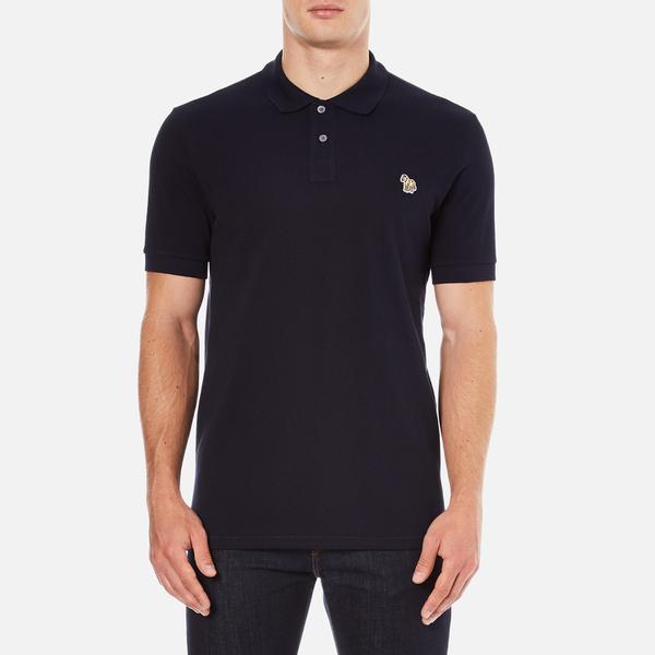 PS by Paul Smith Men's Regular Fit Zebra Polo Shirt - Navy