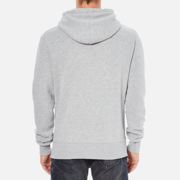 superdry s vintage authentic entry hoody grey marl