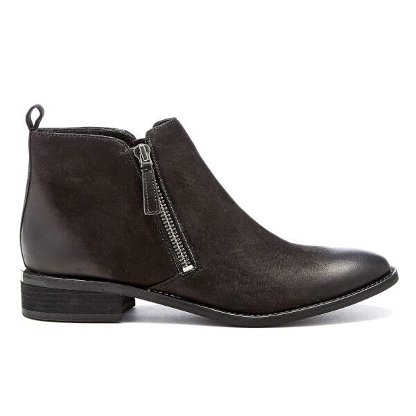 MICHAEL MICHAEL KORS Women's Denver Leather Flat Ankle Boots - Black