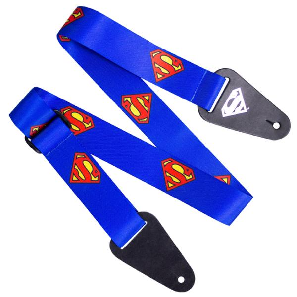Superman Logo Fabric Guitar Strap