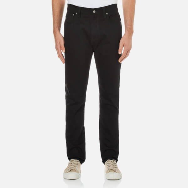 Nudie Jeans Men's Brute Knut Regular/Tapered Fit Jeans - Dry Cold Black