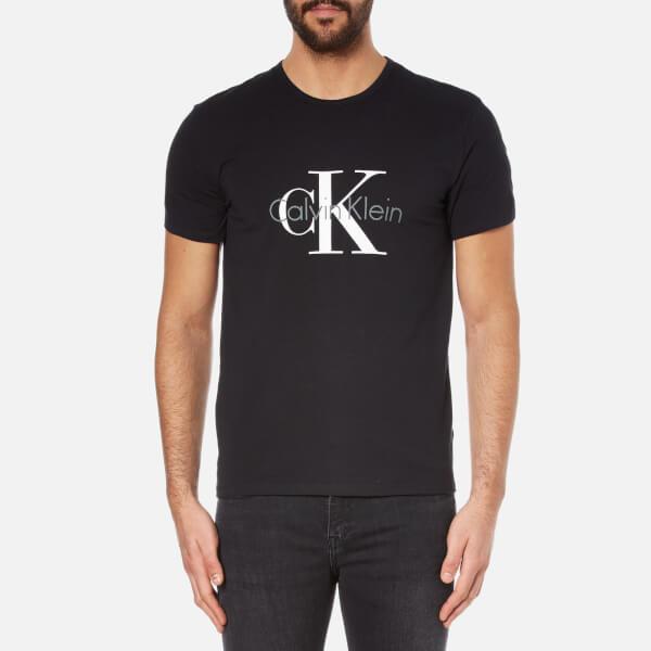 Calvin Klein Men's Large Logo T-Shirt - Black